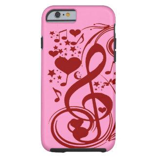La música es love_ funda de iPhone 6 tough