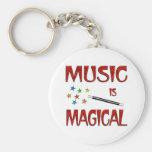 La música es mágica llaveros