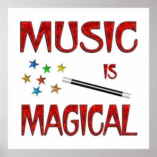 La música es mágica impresiones
