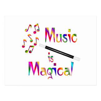 La música es mágica postales