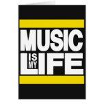 La música es mi amarillo de la vida felicitaciones
