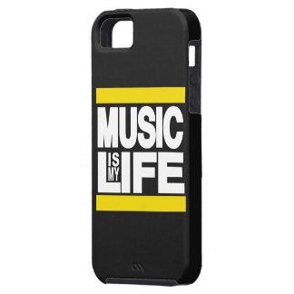 La música es mi amarillo de la vida iPhone 5 Case-Mate cárcasa