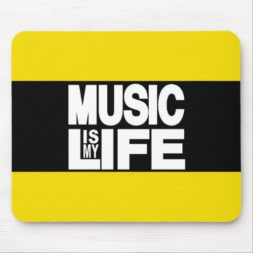 La música es mi amarillo de la vida mouse pad