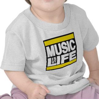 La música es mi amarillo de la vida camiseta