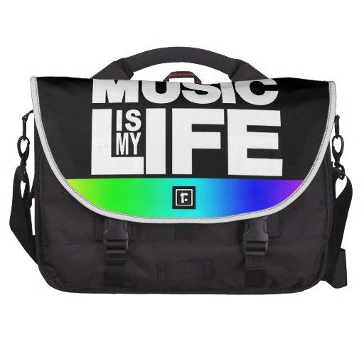 La música es mi arco iris de la vida bolsas de portátil