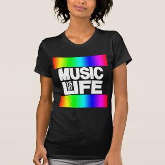 La música es mi arco iris de la vida camiseta