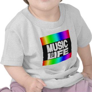 La música es mi arco iris de la vida camisetas