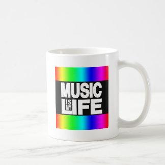 La música es mi arco iris de la vida taza