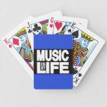 La música es mi azul de la vida barajas de cartas