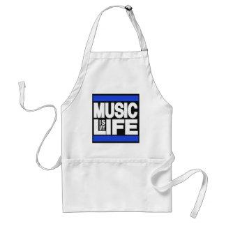 La música es mi azul de la vida delantal
