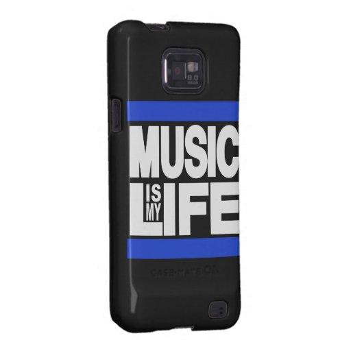 La música es mi azul de la vida galaxy s2 carcasa