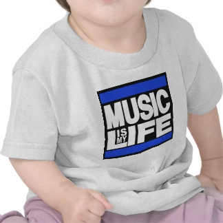 La música es mi azul de la vida camisetas