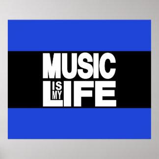 La música es mi azul de la vida póster