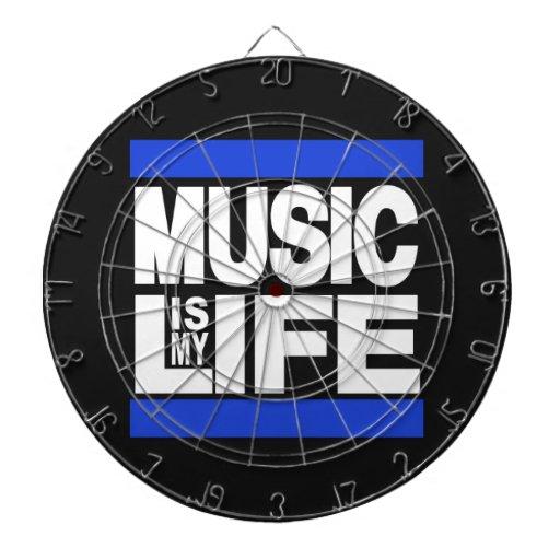 La música es mi azul de la vida tabla dardos
