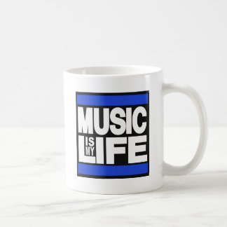 La música es mi azul de la vida taza clásica