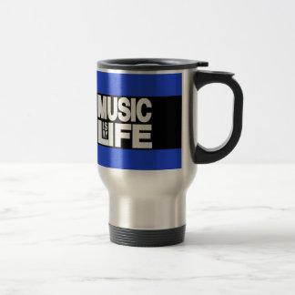 La música es mi azul de la vida taza térmica
