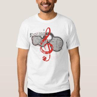 La música es mi camiseta de la vida playeras
