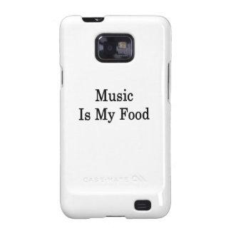 La música es mi comida samsung galaxy SII carcasas