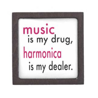 La música es mi droga, armónica es mi distribuidor caja de regalo de calidad
