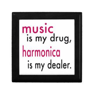 La música es mi droga, armónica es mi distribuidor caja de joyas