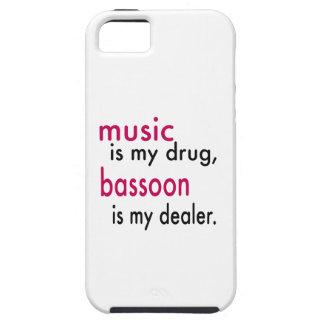 La música es mi droga Bassoon es mi distribuidor iPhone 5 Case-Mate Protectores