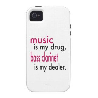 La música es mi droga clarinete bajo es mi Case-Mate iPhone 4 carcasas