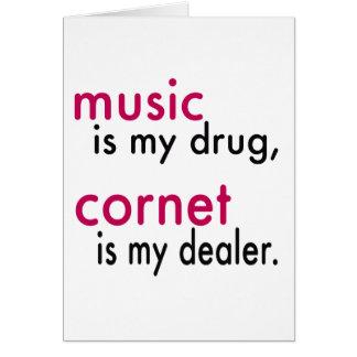 La música es mi droga cucurucho es mi felicitacion