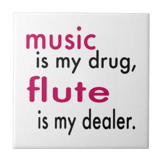 La música es mi droga flauta es mi distribuidor azulejos ceramicos