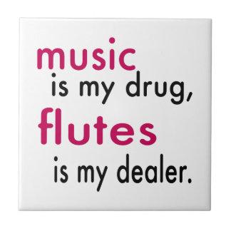La música es mi droga flautas es mi distribuidor azulejos ceramicos