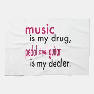 La música es mi droga, pedal que la guitarra de toalla de mano