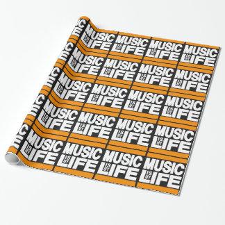 La música es mi naranja de la vida papel de regalo