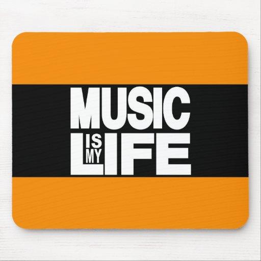 La música es mi naranja de la vida tapete de ratón
