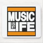 La música es mi naranja de la vida tapete de raton