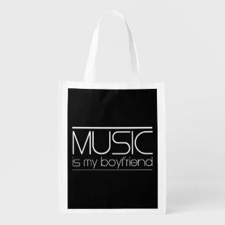 La música es mi novio bolsa para la compra