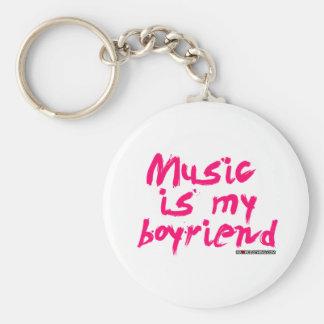 La música es mi novio llaveros personalizados