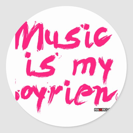 La música es mi novio pegatina redonda