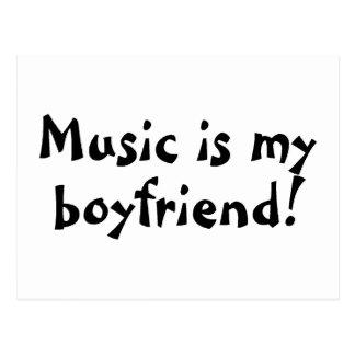 La música es mi novio postal