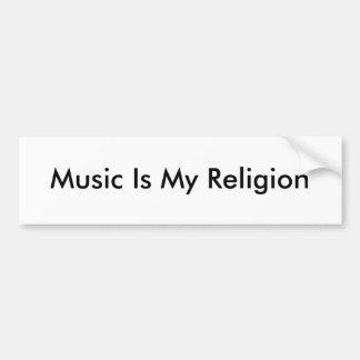La música es mi pegatina para el parachoques de la pegatina de parachoque