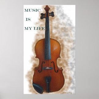 La música es mi poster de la vida