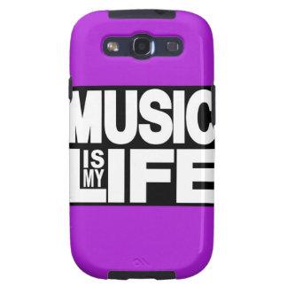 La música es mi púrpura de la vida galaxy SIII fundas