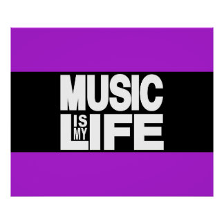 La música es mi púrpura de la vida póster