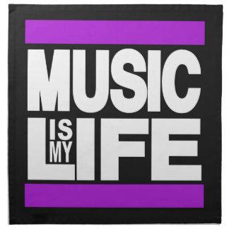 La música es mi púrpura de la vida servilletas de papel