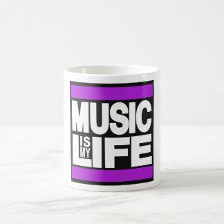 La música es mi púrpura de la vida taza clásica
