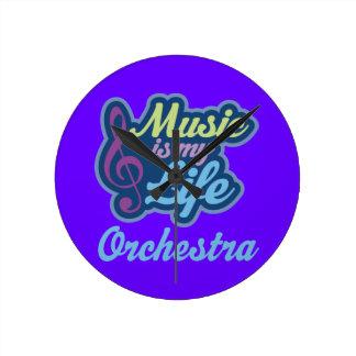 La música es mi regalo de la orquesta de la vida reloj de pared