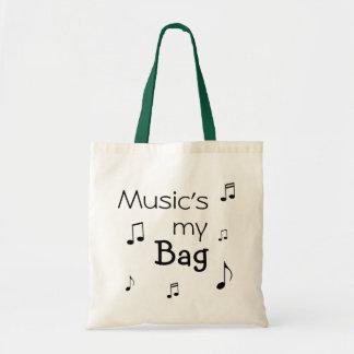 La música es mi retruécano divertido del bolso bolsa tela barata