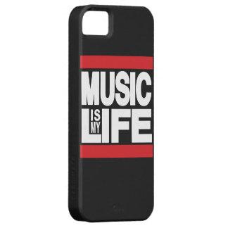 La música es mi rojo de la vida iPhone 5 funda
