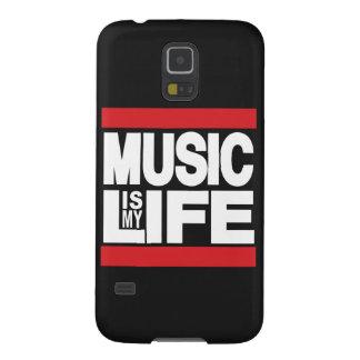 La música es mi rojo de la vida carcasa para galaxy s5