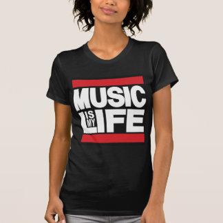 La música es mi rojo de la vida camiseta