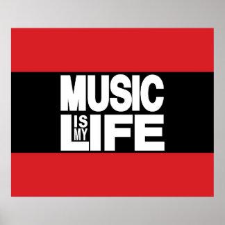 La música es mi rojo de la vida póster