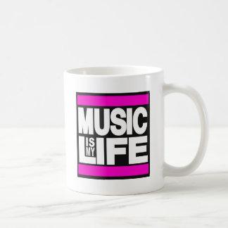 La música es mi rosa de la vida taza